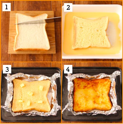 こんな簡単においしく作れるの…? って驚かれるのですが、 「切り込み」入れるだけでしみしゅわ最高な【フレンチトースト】作れます。 おうちでお店の味… 食パンに切り込み入れ卵1個、砂糖大1/2、牛乳大4混ぜ浸しアルミホイルで包みバター5gのせ230度で7分程トースト。バター、蜂蜜お好みで。