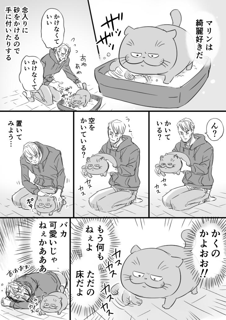 【おじさまと猫】マリンのトイレ掃除