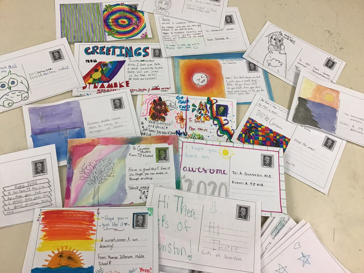 <a target='_blank' href='http://twitter.com/JeffersonIBMYP'>@JeffersonIBMYP</a> students are good Communicators, we exchanged postcards with <a target='_blank' href='http://twitter.com/GunstonMS'>@GunstonMS</a> , sharing positive messages for the new year. <a target='_blank' href='http://search.twitter.com/search?q=tjmsrocks'><a target='_blank' href='https://twitter.com/hashtag/tjmsrocks?src=hash'>#tjmsrocks</a></a> <a target='_blank' href='https://t.co/IWPfoAEhIM'>https://t.co/IWPfoAEhIM</a>