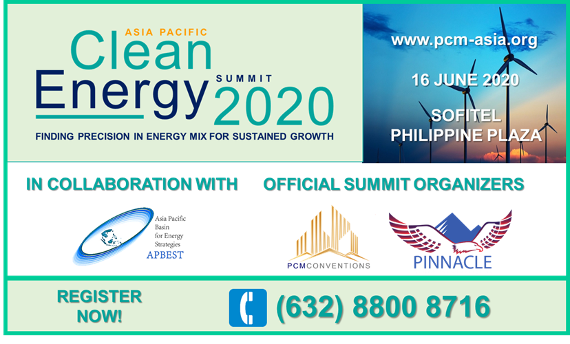 Join us at the Asia Pacific Clean Energy Summit 2020 on June 16, 2020 @Sofitel #2ces #cleanenergy #energysummit #pcmasia #apbestpic.twitter.com/BHYP0G5Qm4