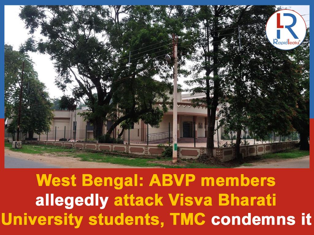 The #TrinamoolCongress on Thursday criticised the #BharatiyaJanataParty after students of #VisvaBharatiUniversity in #Shantiniketan were allegedly assaulted by #AkhilBharatiyaVidyarthiParishad members.pic.twitter.com/3TZ2CflVWH
