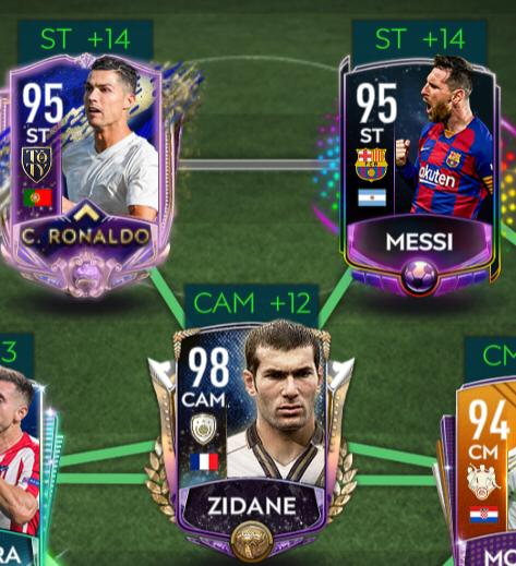 New attack with the terrific trio!! LLR Messi, UTOTY CR7 and Prime Zidane. #fifamobile20 <br>http://pic.twitter.com/vBOTcbKUqn
