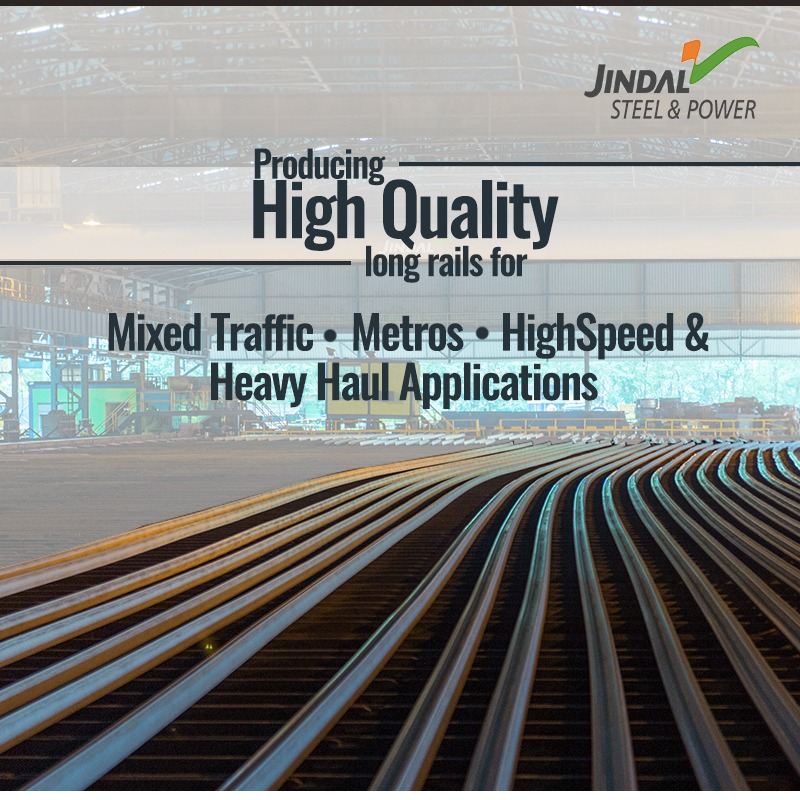 JSPL Rails meet the domestics demand as well as international standards.They are available in various sizes and grades so that they can be used for diverse applications such as track rails, crane rails and high speed rails.#BuildingIndia