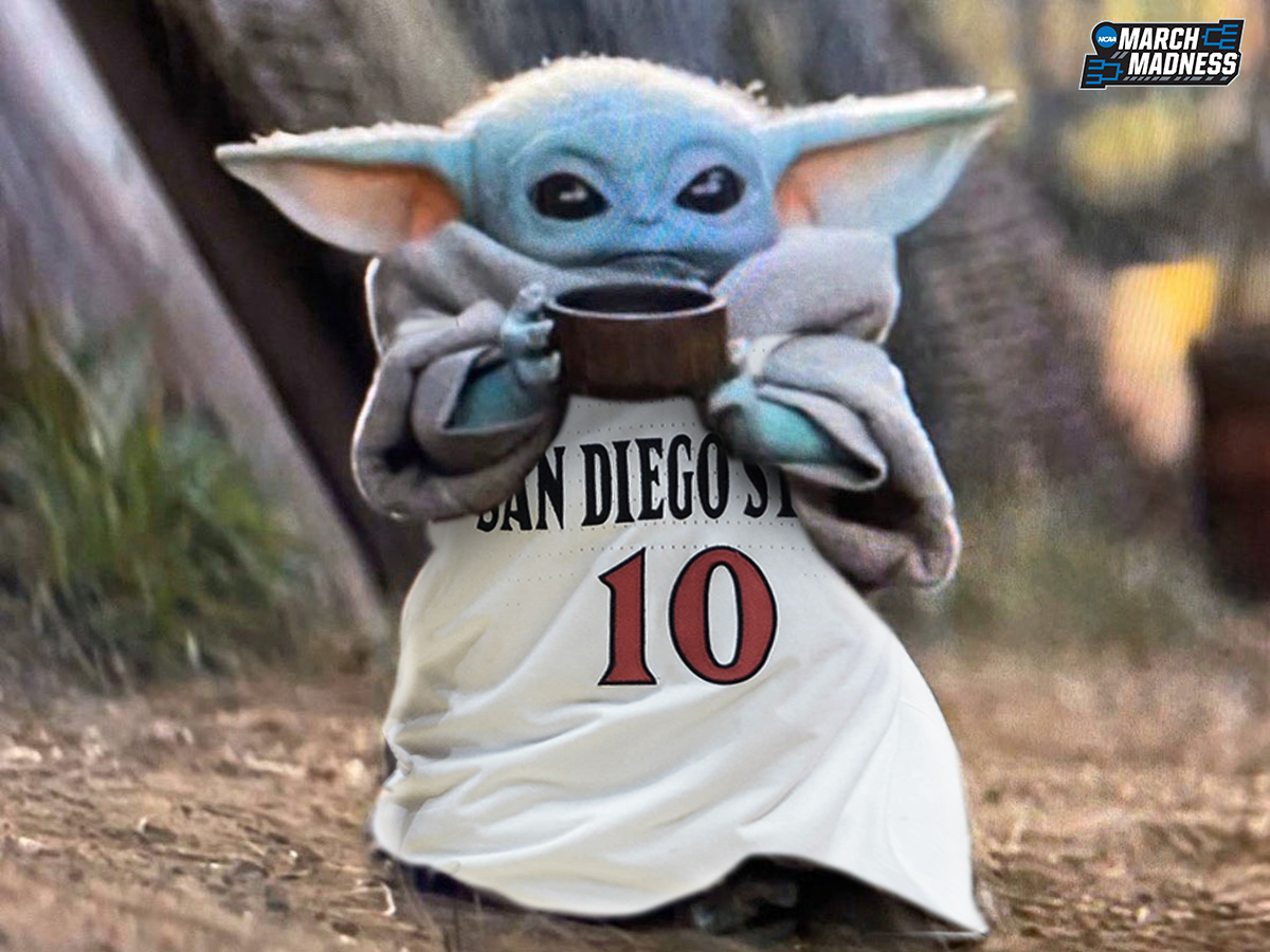 And then there was one…  San Diego State is the last undefeated team remaining!  <br>http://pic.twitter.com/5GYX1pRyl1