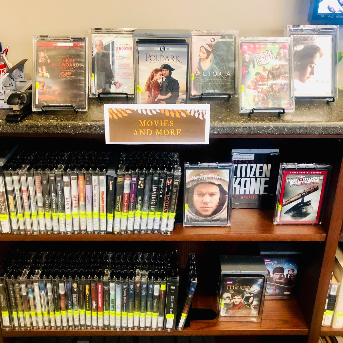 New movies are filling the shelves at RSU Libraries Pryor! Check them out! #newmoview #movielover #classicfilms #cinemapic.twitter.com/fUqP7ooVqo