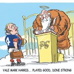 Rugby league lost another great during the week. Vale #MarkHarris. They're putting together a good side up there. My tribute toon for @telegraph_sport @dailytelegraph #nrl #sydneyroosters @sydneyroosters @BuzzRothfield