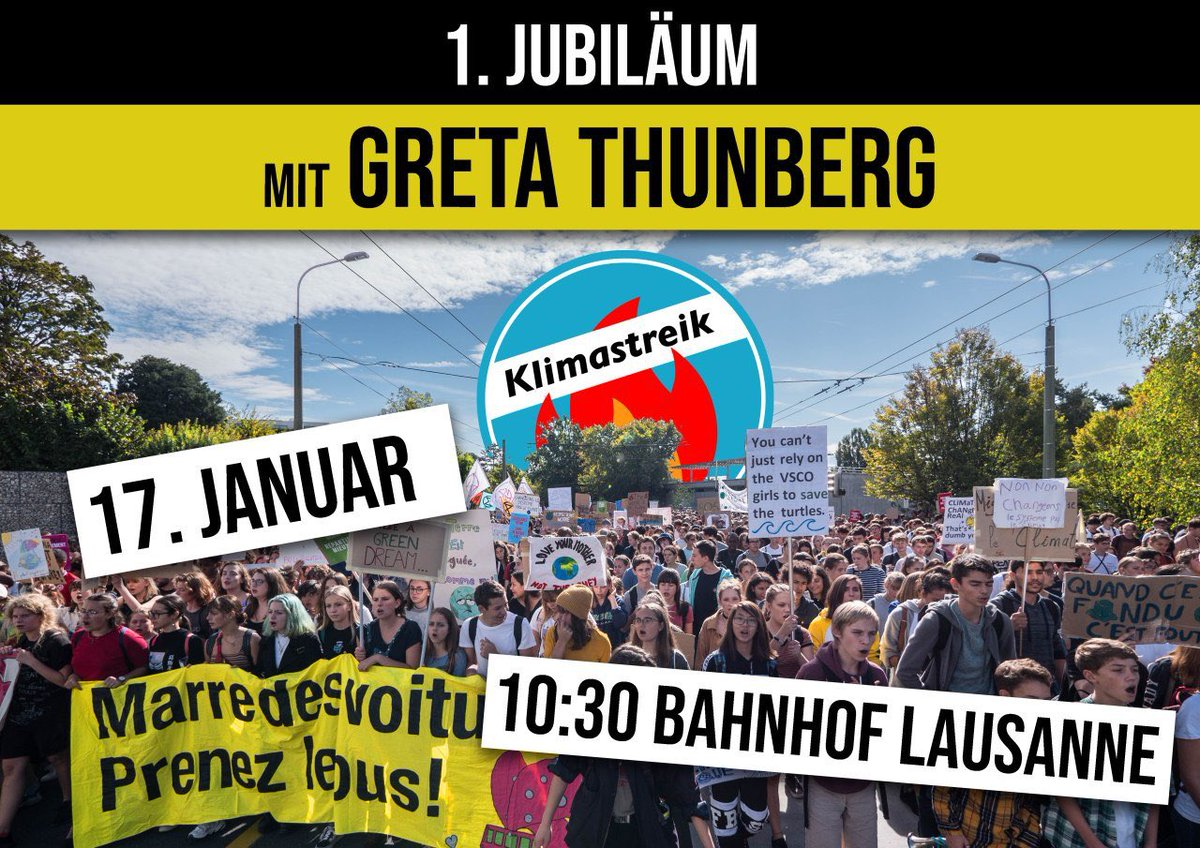 Tomorrow I join @klimastreik Climate Strike in Lausanne! See you 10:30 at the Bahnhofsplatz. #FridaysForFuture #ClimateStrike #schoolstrike4climate