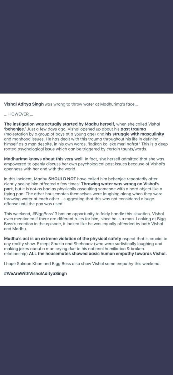 @BiggBoss @BeingSalmanKhan @justvoot @ColorsTV please be wise and sensible #VishalAdityaSingh #JusticeForVishal