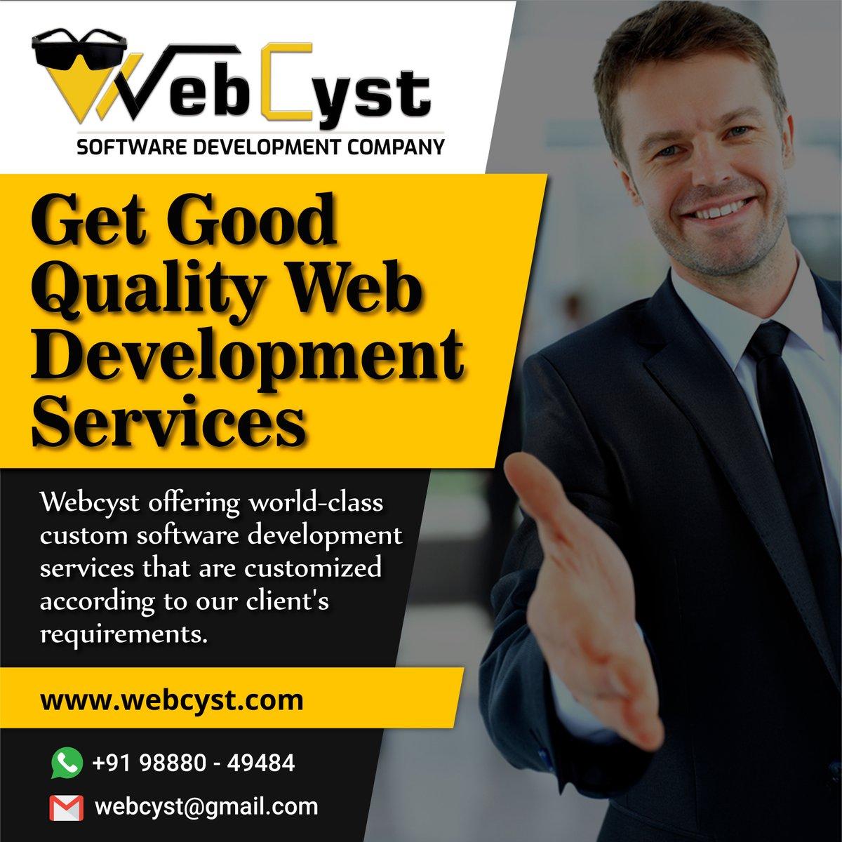 here! you will get code quality & coding standard.  #webcyst #webcystsoftwares  http:// webcyst.com     #softwaredevelopment #webdevelopment #web #websitebuilder<br>http://pic.twitter.com/cDmORWBPXw