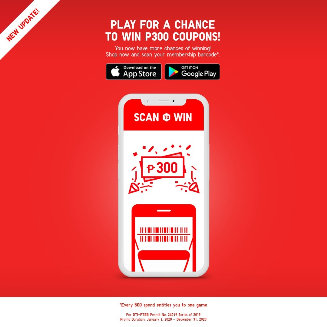 Uniqlo Philippines Pa Twitter New Uniqlo App Update Scan To Win Now Gives You More Chances Of Winning Scan Your Membership Barcode Every Time You Shop Get One Game For Every
