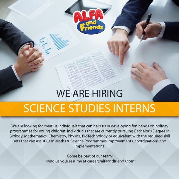 ALFA and Friends is currently offering industrial training or internship for individuals majoring in Science Studies for 3 months (minimum).   @MauKerjaMY  @JobStreetMY  @InternMalaysia  #ALFAandFriends https://t.co/j3qazhndqi