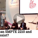 Image for the Tweet beginning: Video: Where can #SMPTE2210 and