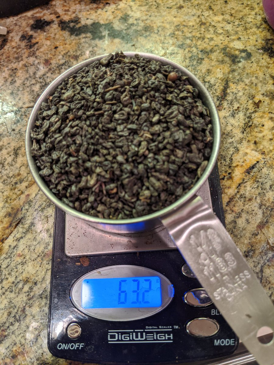 I wonder how long 1/2 cup (65g) of gunpowder green would get you. pic.twitter.com/wWkNfZLodb