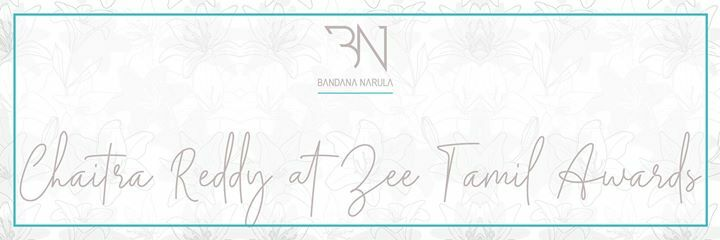 Chaitra Reddy wearing @bandananarulaofficial at Zee Tamil Awards. . . #BandanaNarula #Dazva #AW19 #AutumnWinter19 #MumbaiFashion #IndianFashion #IndianDesigner #MumbaiFashion #MumbaiStyle #LuxuryFashion #Lehengalove #Lehenga #bridaldreams #Bridal #BridalFashion #IndianBride … pic.twitter.com/KVXufqugKo