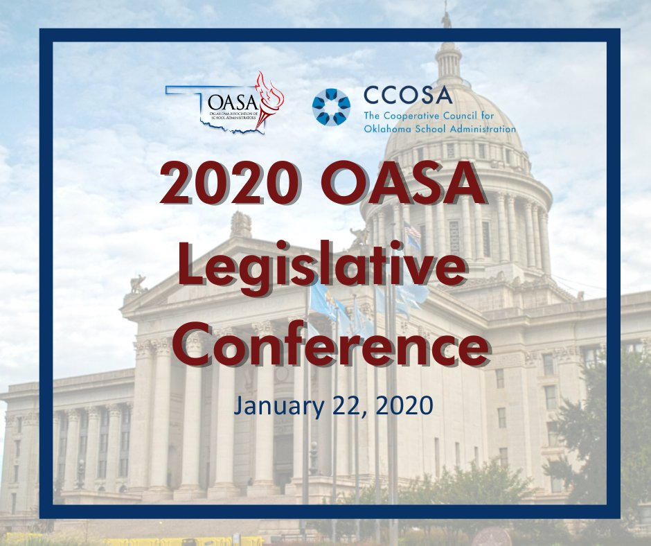 It's not too late! Register for the 2020 OASA Legislative Conference ow.ly/rns850xF5s8