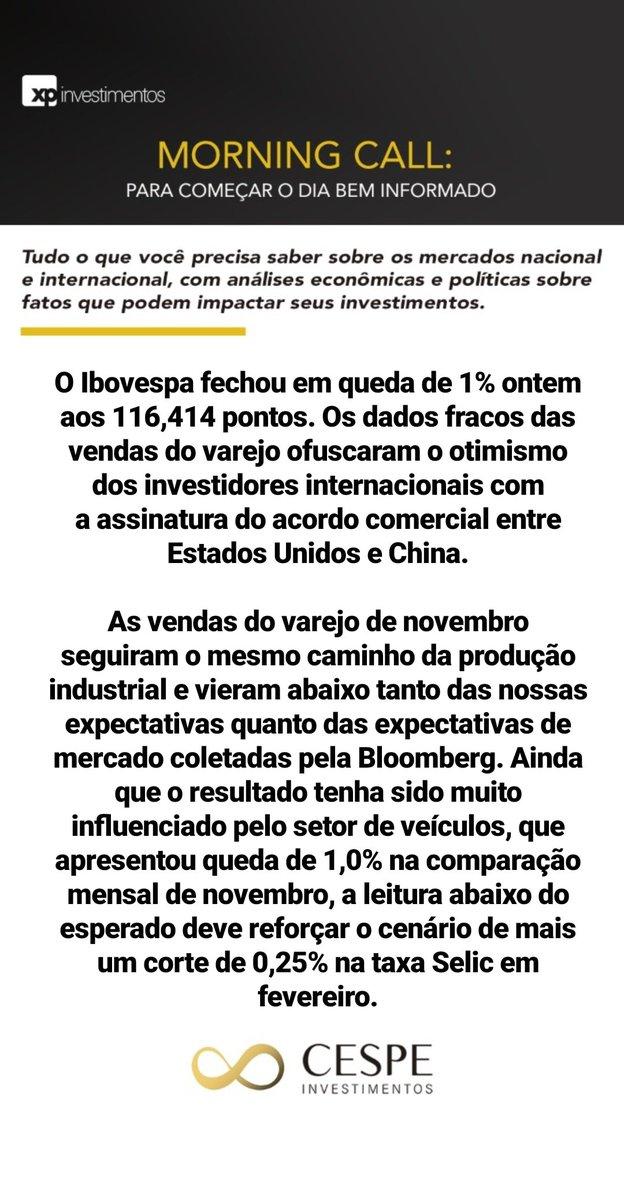 Dados de atividade no Brasil e temporada de divulgação de balanços em destaque  #morningcall #investimentos #mercadofinanceiro #planejamentofinanceiro #morning #news #cespeinvestimentos #acreditenoimpossivelpic.twitter.com/TpDcEN0G06