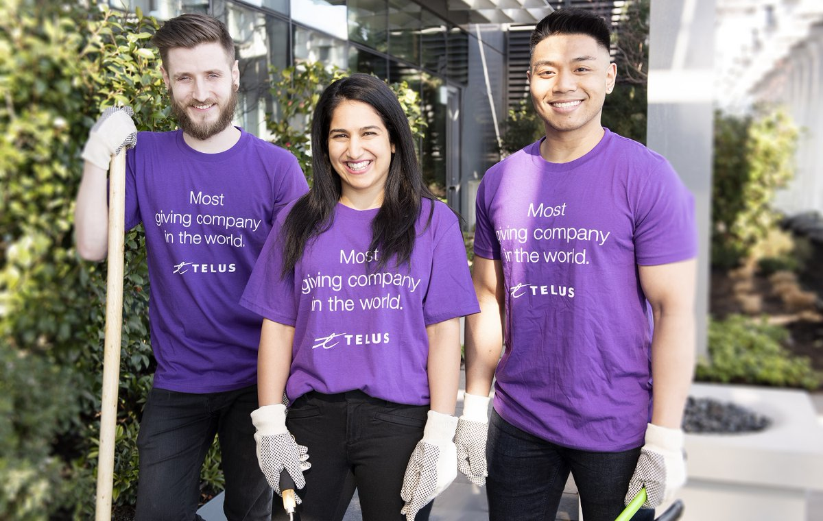 Get into the giving spirit this #InternationalVolunteerDay! Since 2000, as the #MostGivingCompany in the world, my @TELUS family has contributed so much to our communities, including $720 million in financial assistance and 1.4 million days of volunteering ow.ly/QHPK1025YMX