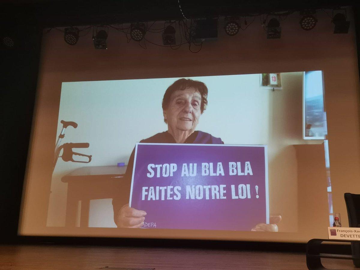 STOP AU BLABLA FAITES NOTRE LOI !!! #GrandAge #Senior #Giletsgris @agnesbuzyn