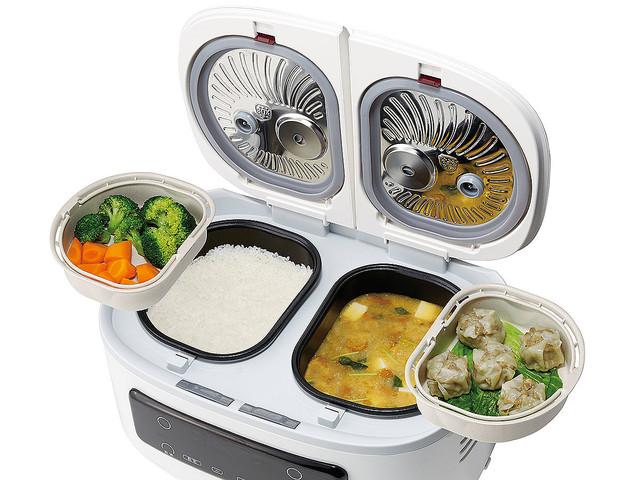ご飯とカレーが同じ鍋で作れる!?自動で楽チン鍋登場ww