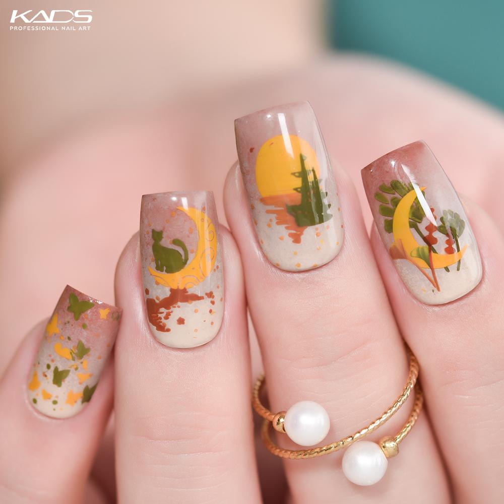 Moon KADS stamping plate · Nature 042 · #nails #kads #kadsnailart #nailart #nailfashion  #nailwork #naildesigns #nailplates #kadsnature #kadsnature042 #nailpolish #fallnails #autumnnails #moonnails #cutenails #nudenails #flowernails #catnails #stampingnailart #nailcolor #notdpic.twitter.com/jBtagsmvhz