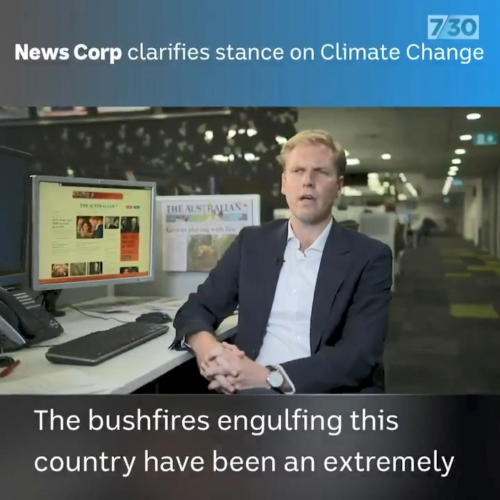 News Corp clarifies its climate change stance.