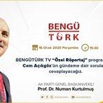 """Image for the Tweet beginning: BENGÜTÜRK TV """"Özel Röportaj"""" programında"""