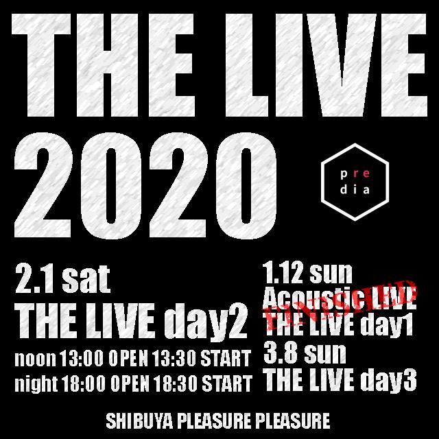 【FC先行受付中】 2/1(土)「THE LIVE 2020 day2」@渋谷PLEASURE PLEASURE ファンクラブ会員様限定先行チケットお申し込み受付は明日お昼12:00までとなります✅  noon 13:30 O… https://t.co/uB9BUEVkIC
