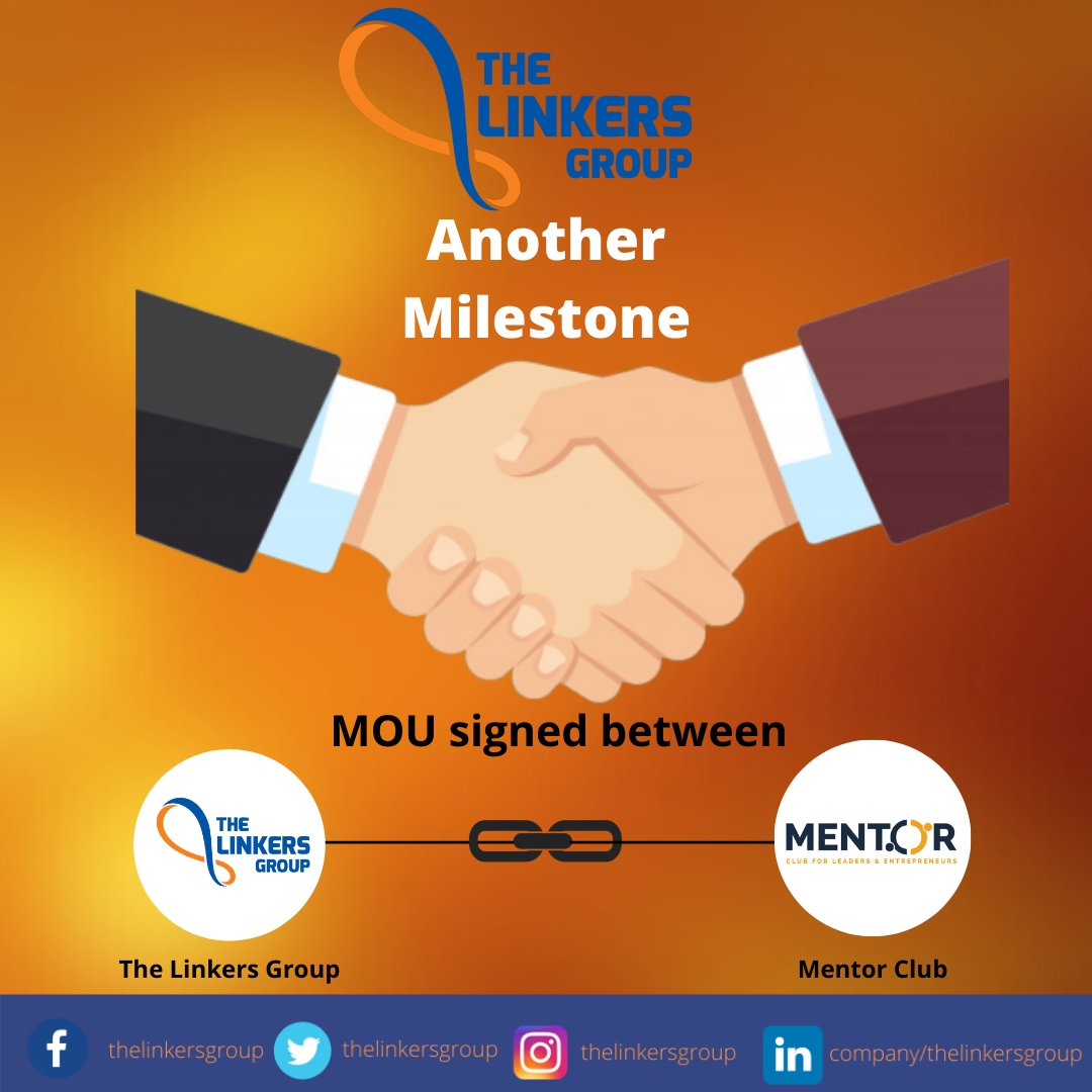 The Linkers Group is official franchise partner of Mentor Club operating in Lahore as Mentor Club Lahore Chapter  #Milestone #MOU #Collaboration #TheLinkersGroup #Tlg #MentorClub #mentor #Partner #Lahorechapter   For more details: https://www.mentorclub.pk/ https://thelinkers.org/pic.twitter.com/FIzbiPcvX2