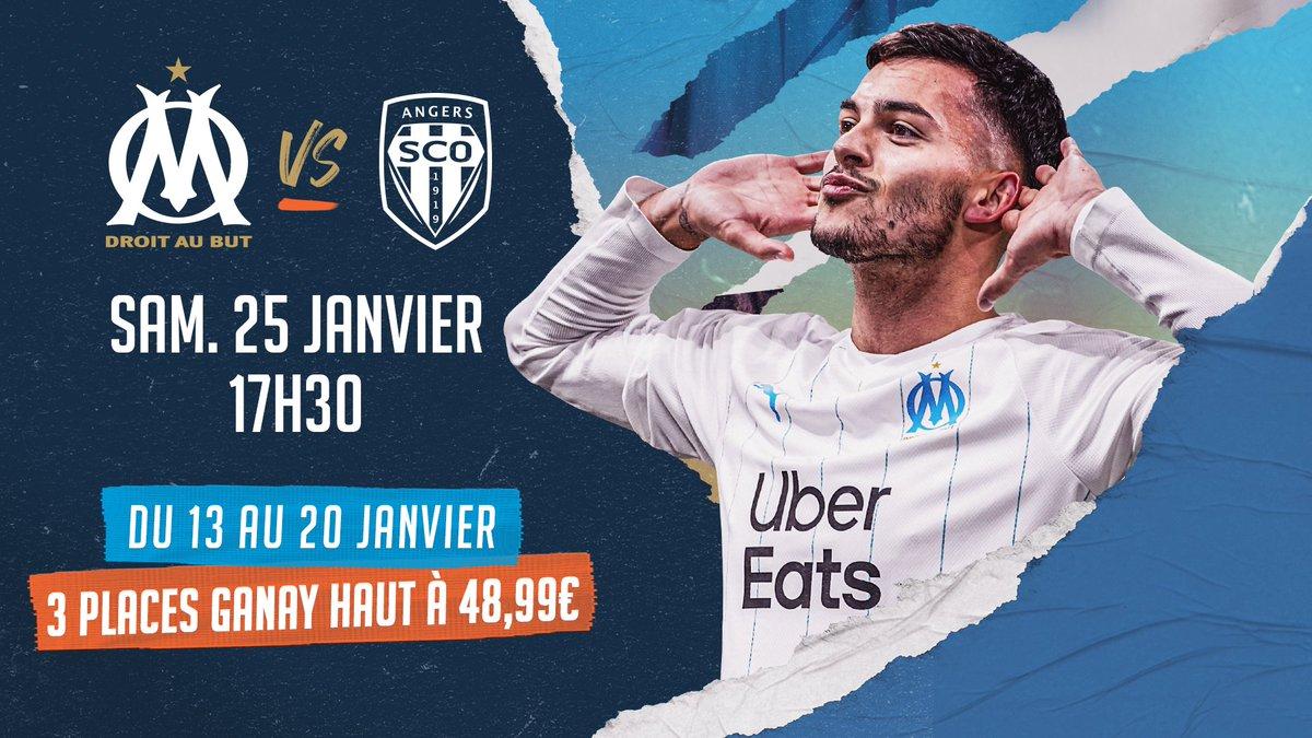 Offre spéciale OM-Angers : 3 places en Ganay haut pour 48,99 euros ! promo.billetterie.om.fr/n_4qv5hH