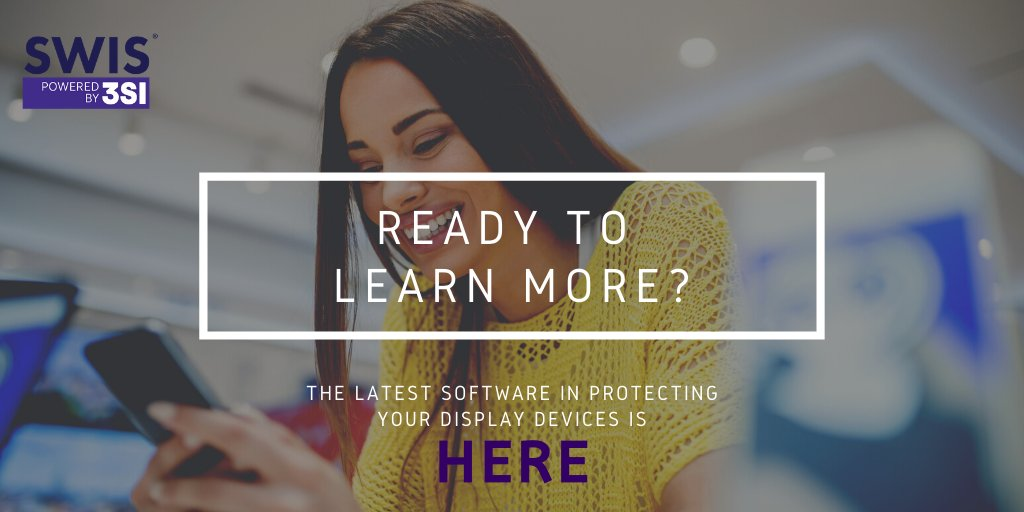 Got a minute? Learn how SWIS can protect your display devices while giving your customers a genuine experience.   The latest technology... for a #SaferWorld  MORE: http://bit.ly/2QSiTXw  #innovativetechnology #swis #security #lawenforcement #trackingtechnology #trackingdevices pic.twitter.com/v3raRTMlus