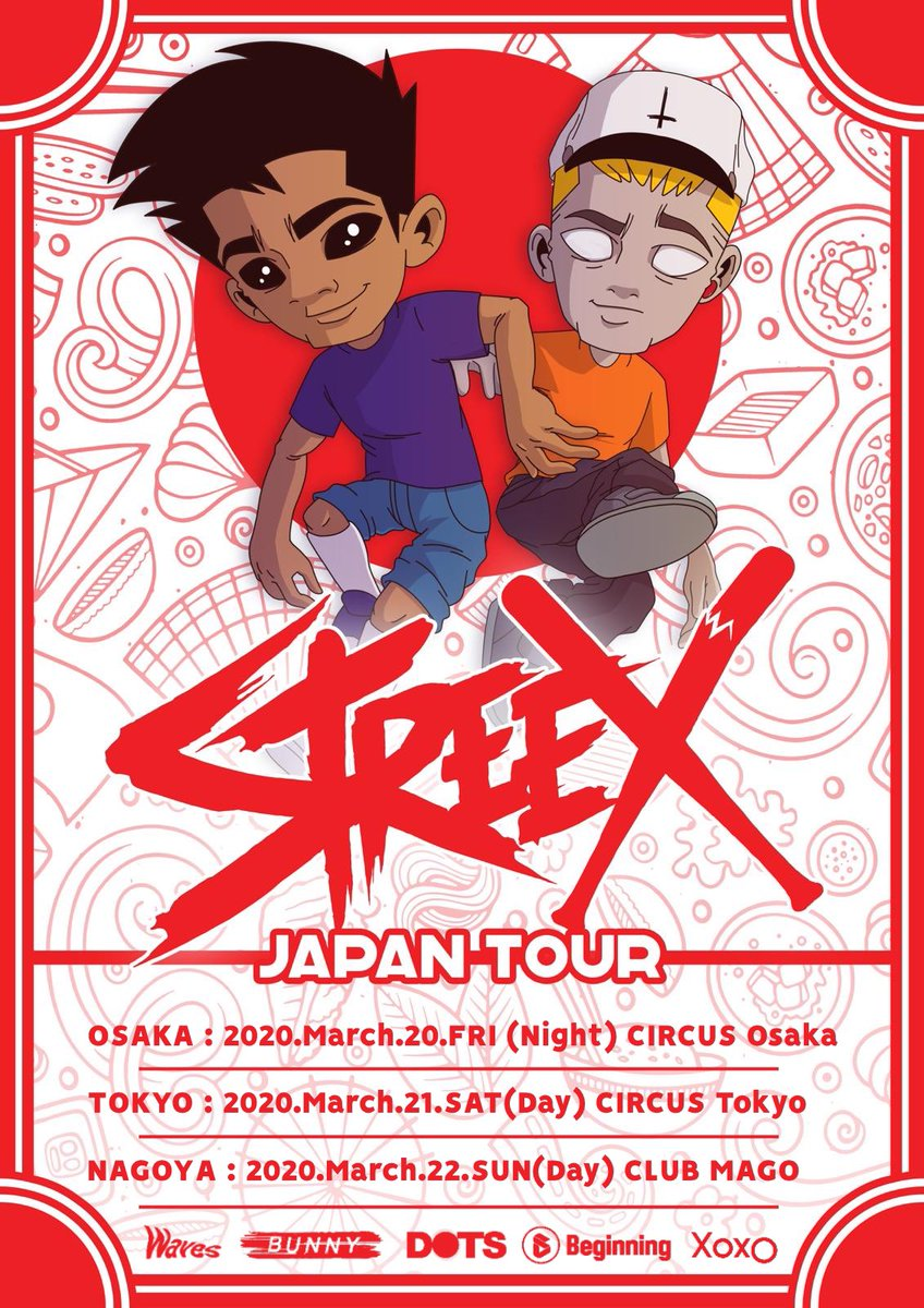 🇮🇹 STREEX 来日決定 🎸🗓 3/22(日)