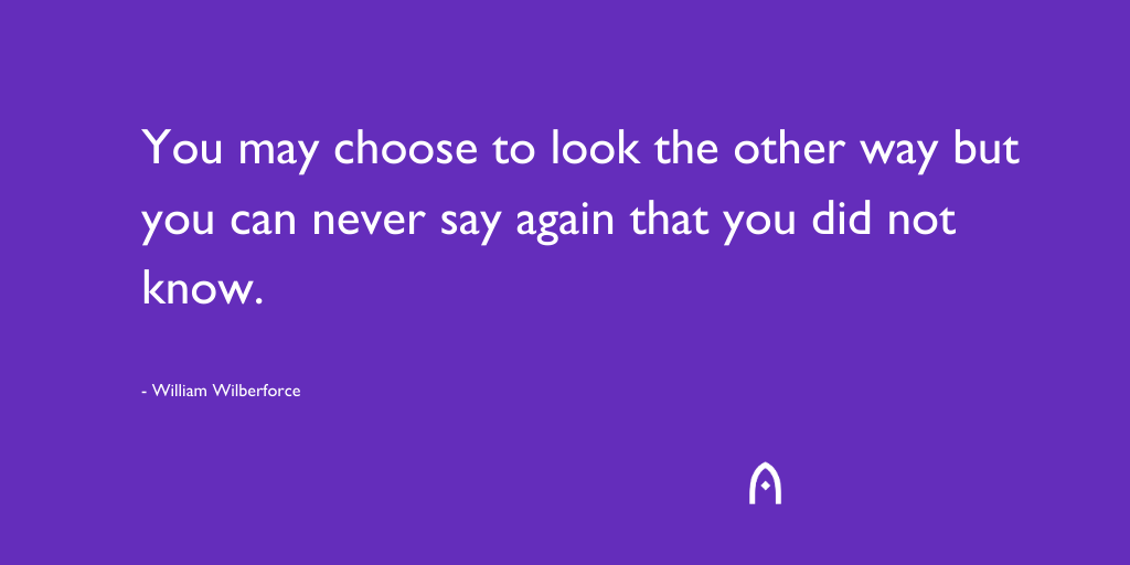'You may choose to look the other way but you can never say again that you did not know' - William Wilberforce. #endhomelessness #charity #thursdaythoughts #inspiringquotes <br>http://pic.twitter.com/lPR8T8DrUZ