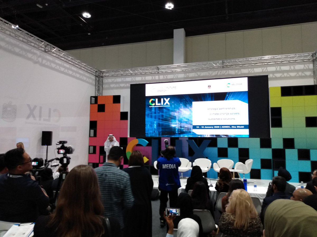Finalists announcement of the #clix #Sustainability #startup #challenge at the #worldfutureenergysummit in #AbuDhabi .pic.twitter.com/6K3wAm5uoC