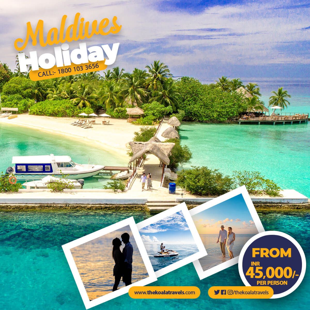 "Want to make your co-workers insanely jealous? Go there without mentioning it to anyone-then send them a ""Wish you were here!"" postcard. Get our #Maldives complete package at very affordable Price of 45,000 per person!   #thekoalatravels #holidaypackages #tourpackages<br>http://pic.twitter.com/Su11O2e36C"