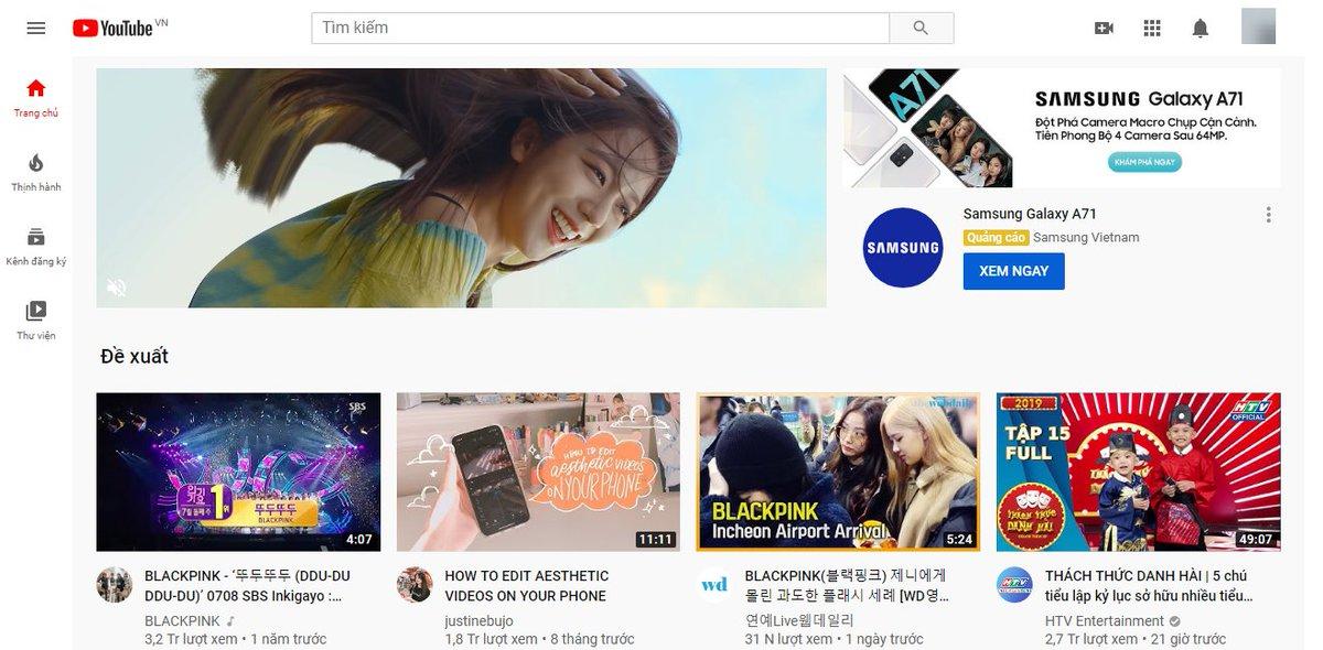 lần đầu tiên thấy quảng cáo mà chủ động click xem #GalaxyA #GalaxyA71 #ĐộtPháCameraMacroChụpCậnCảnh #SAMSUNGxBLACKPINK   #samsungvietnam rước đen hồng về VIỆT NAM đi mà https://www.youtube.com/watch?v=JvjMljYA1Jw…pic.twitter.com/doSJ2YKRIa