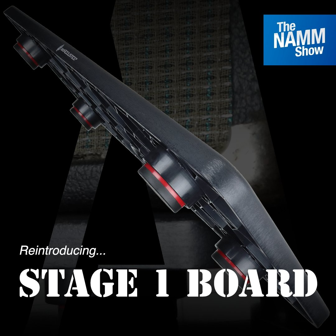 Presenting an updated edition of our award-winning #STAGE1Board with STAGE 1 isolators integrated! The new board provides a ready-to-go and portable isolation platform for #guitaramps, stage monitors and subs   At #NAMM2020: LEVEL 2, { Booth 17315 } – http://bit.ly/2TEgOQPpic.twitter.com/GoQMtMmlyi