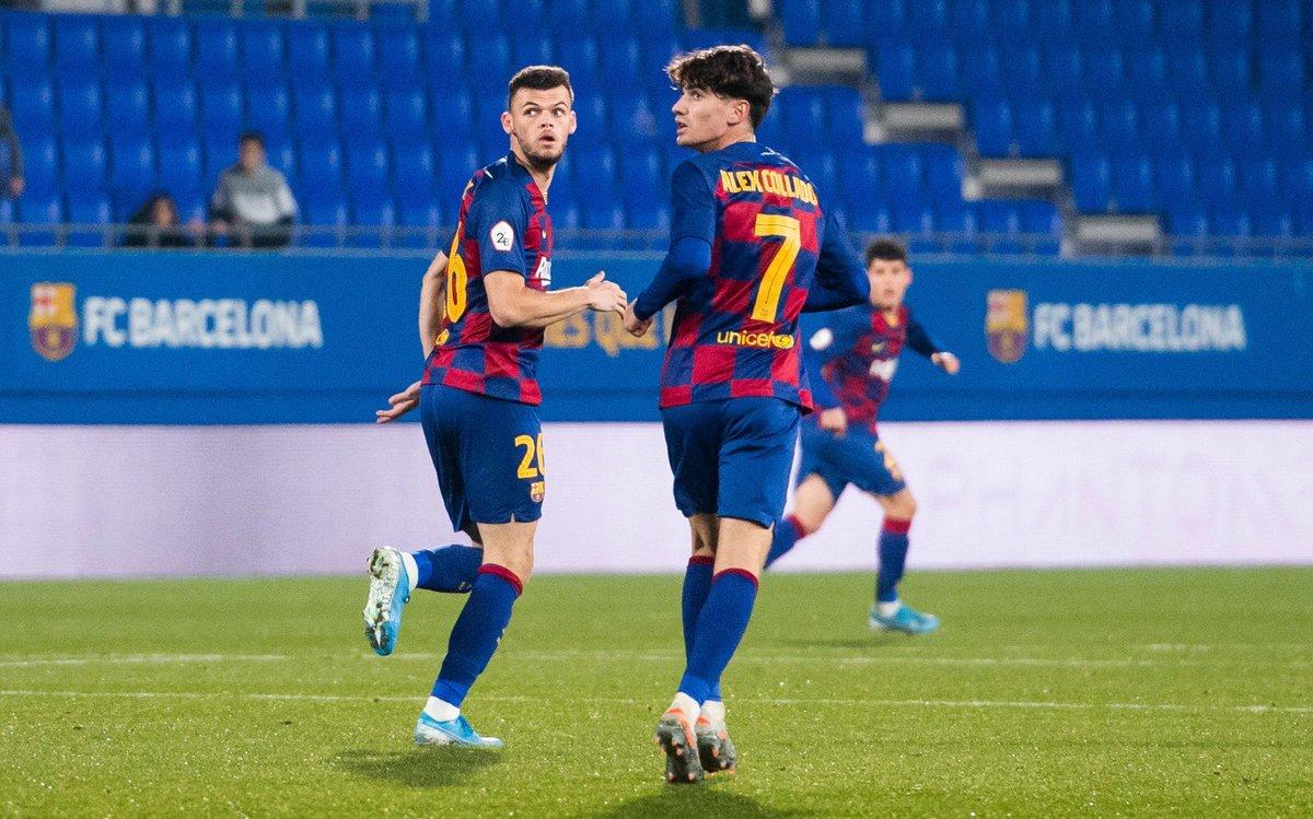 🔝El migcampista del Juvenil A, Antonio Jesús, va debutar ahir amb el @FCBarcelonaB davant el Badalona. Enhorabona!! 💪💪   🏠 La Masia, el futur del Barça  #FCBMasia #ForçaBarça 🔵🔴