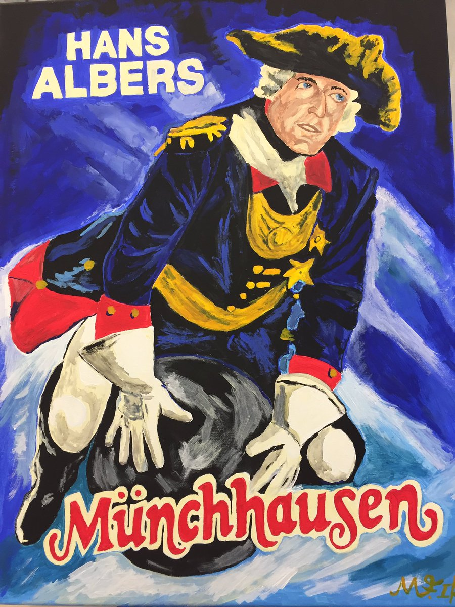 Meine neuste #film #plakat #kopie . I #love #it #hansalbers #münchhausen #modernart #deutscherfilm #Berlin #potsdambabelsbergpic.twitter.com/J3B4hO5f5r