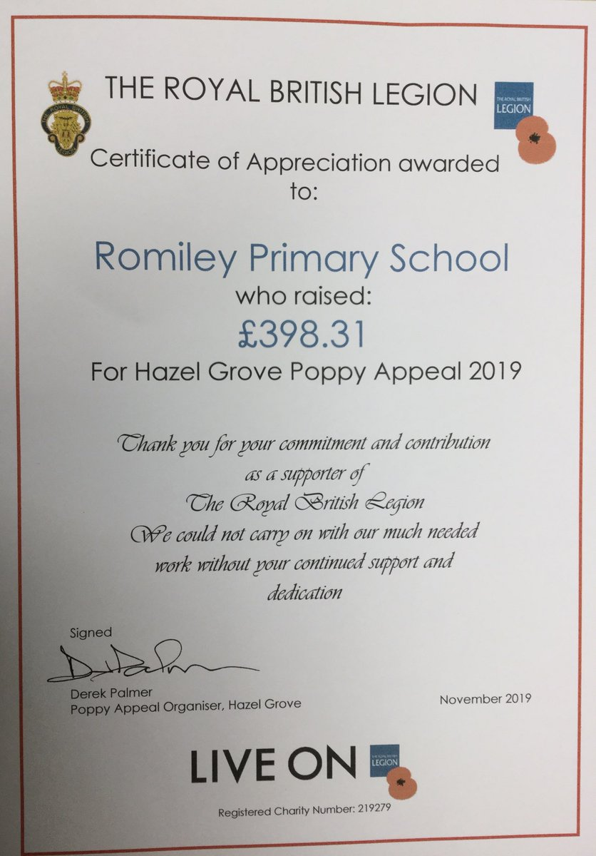 test Twitter Media - @RomileyPS have just received this today. Thank you to all who donated to the 2019 Poppy Appeal. 👍 https://t.co/jPo5MGnWT1