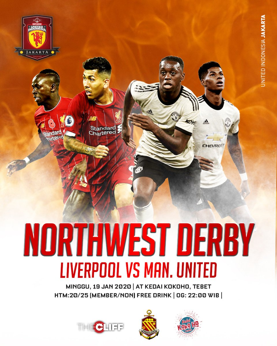 #LiveScreening North West Derby! LFC vs Manchester United, this sunday!  🏢 Kedai Kokoho Tebet 🏧 20/25 Member dan Non member Open gate jam 22.00   See you there!  #UIJKT https://t.co/WntUe7Yrx4