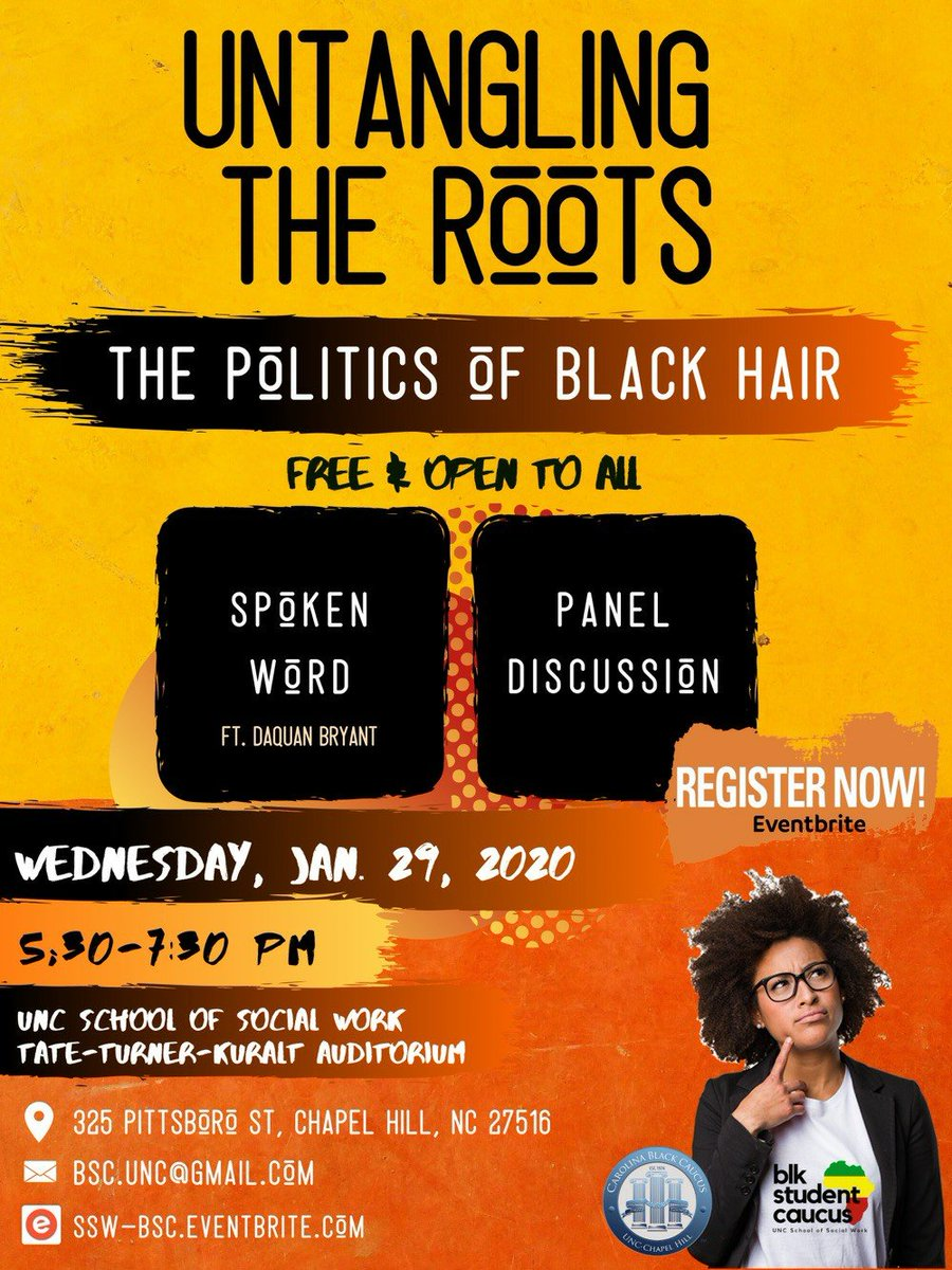 Looking forward to this program hosted by our Black Student Caucus on 1/29. It's free, but preregistration helps with planning! https://t.co/yHnHvL5YVE