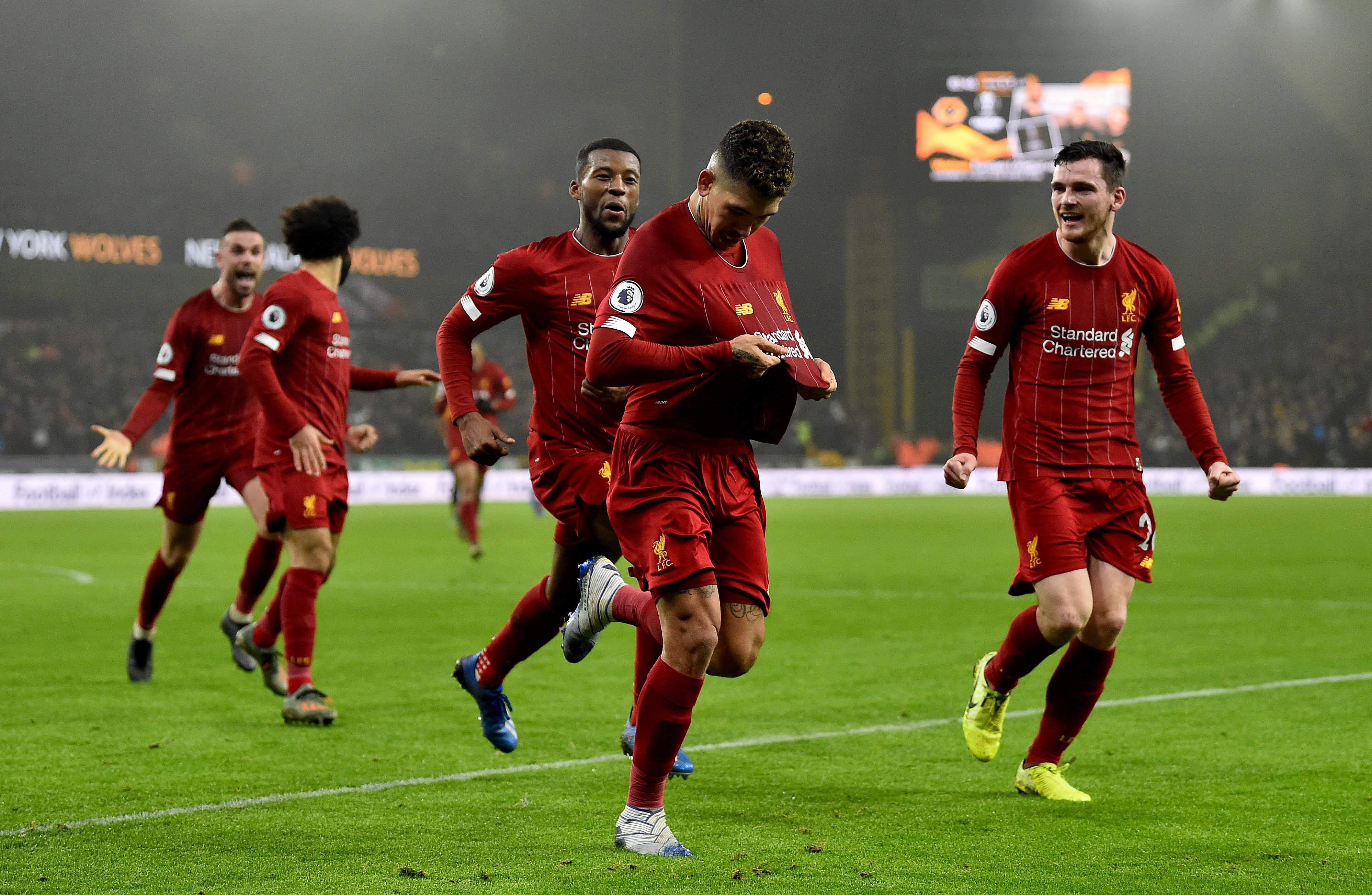 ليفربول يتخطى ولفرهامبتون ويواصل اربعين مباراة على التوالي بدون خسارة في البريميرليج