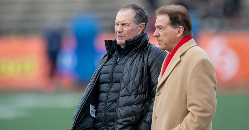 Nick Saban And Bill Belichick Talk At The Senior Bowl. The Photo Is Pure America