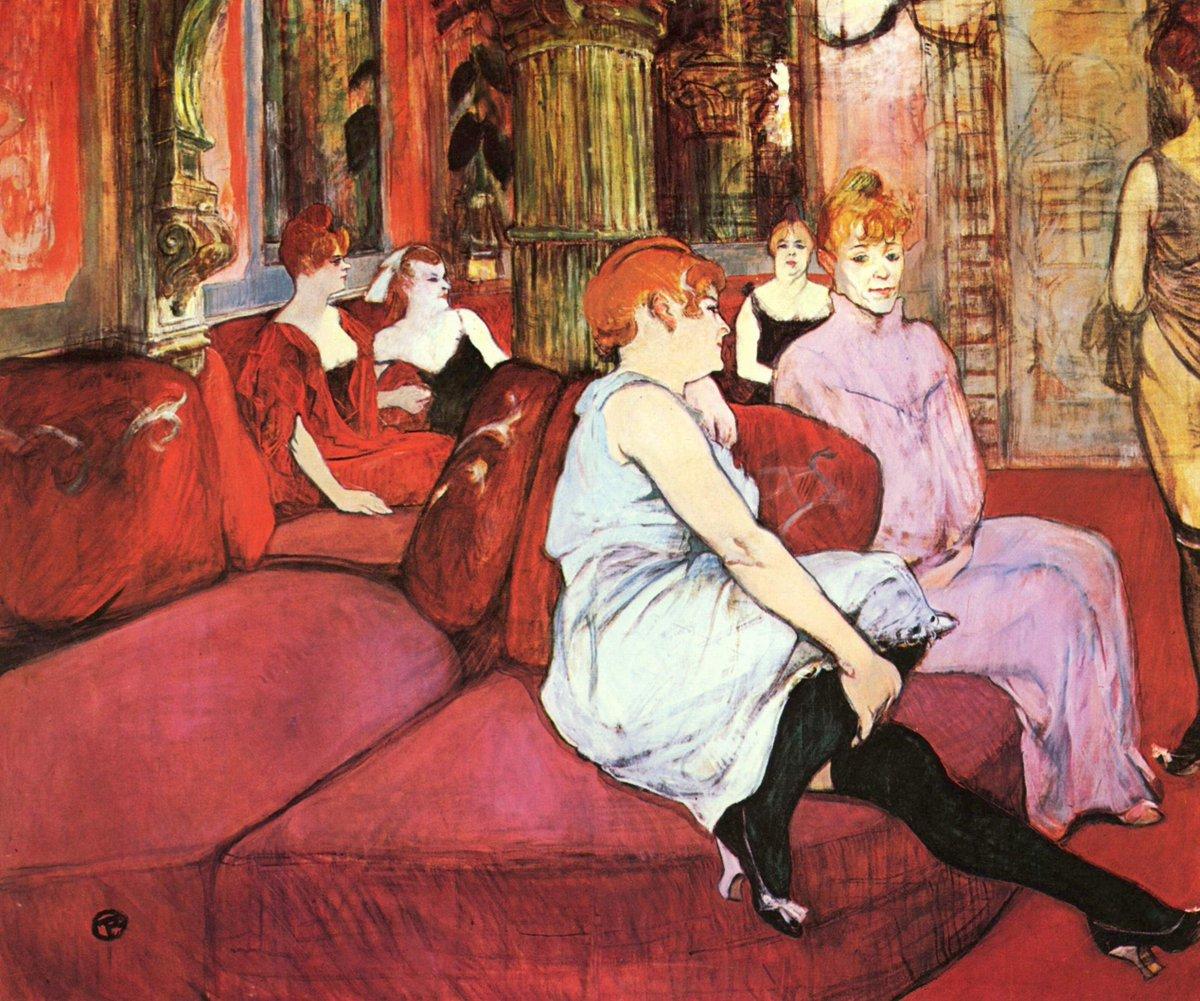 "Henri de #TOULOUSE #LAUTREC, ""IN THE SALON AT THE RUE DES MOULINS"" 1895 #art #arttwit #twittart #iloveart #artlover<br>http://pic.twitter.com/oPtselyDhZ"