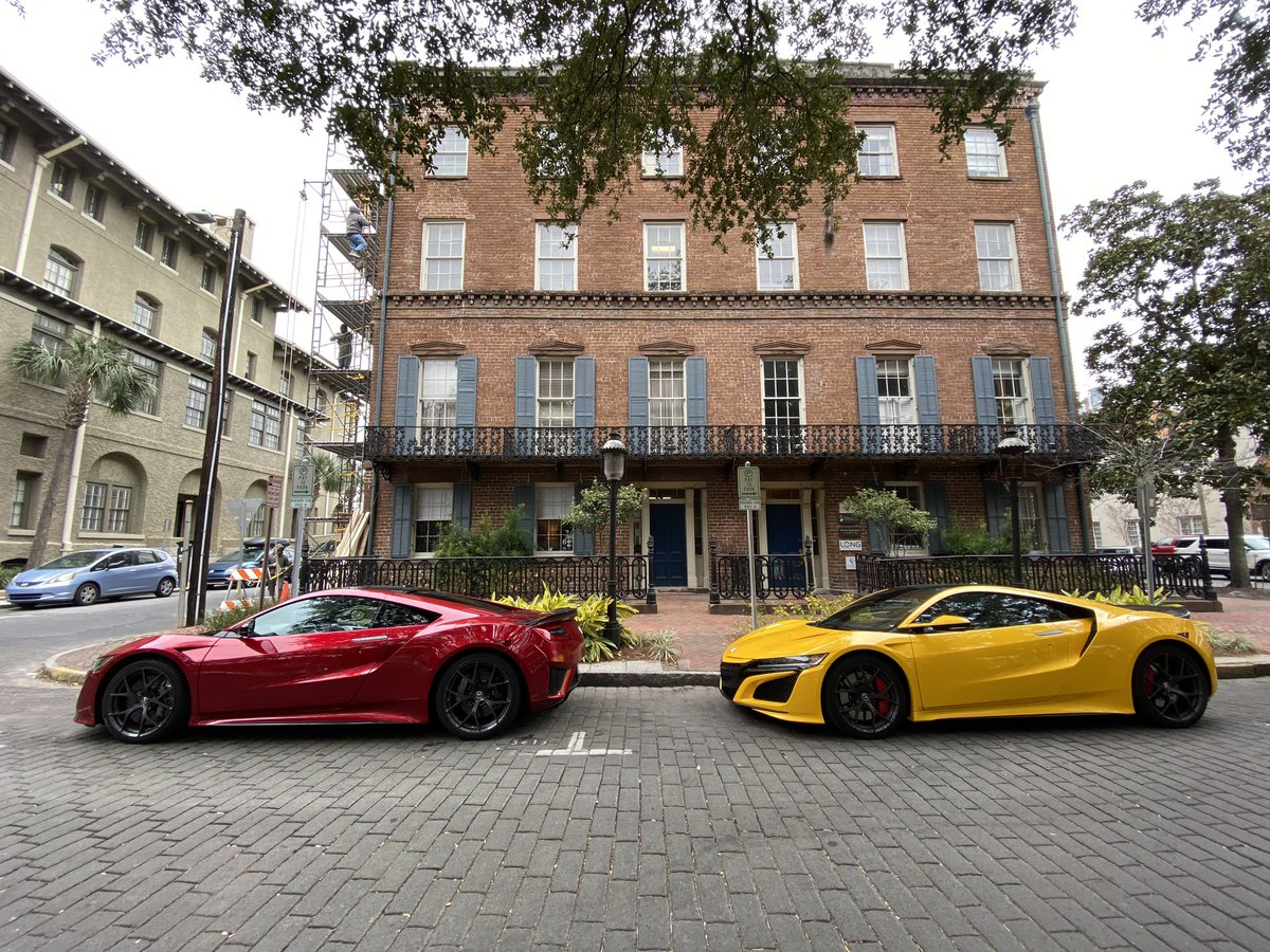 Rolled into Savannah, GA, for a late lunch. Not many supercars 'round these parts.