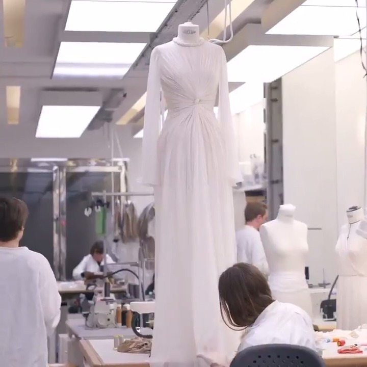 With the goddesses of antiquity as potent inspiration for the #DiorCouture Spring-Summer 2020 collection, get an insight into the making of this remarkable Maria Grazia Chiuri interpretation of a peplos dress here on.dior.com/hautecouturess….
