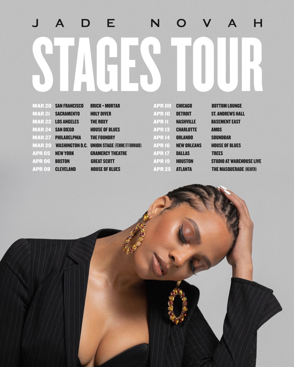 Blessed enough to launch her second US Tour with @unitedtalent . Don't forget to stream her new single #SomebodySon! @jadenovah this is going to be a special run!!! Congrats!!!! #JadeNovah #UTAMusic