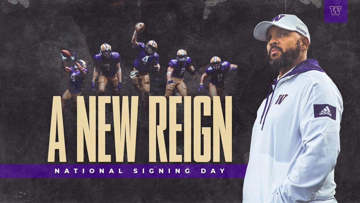 Want to be the first to hear from new head football coach Jimmy Lake on his vision for Husky Football?  Join Husky Athletics as we usher in the Jimmy Lake era and celebrate an incredible 2020 class.   Purchase your tickets for Signing Day today!   >>  http:// gohski.es/ANewReign    <br>http://pic.twitter.com/yxl7zxeTT6