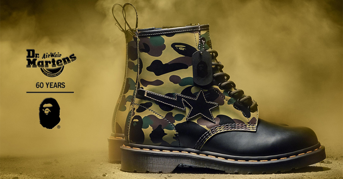 A Bathing Ape x Dr. Martens 1460 Remastered