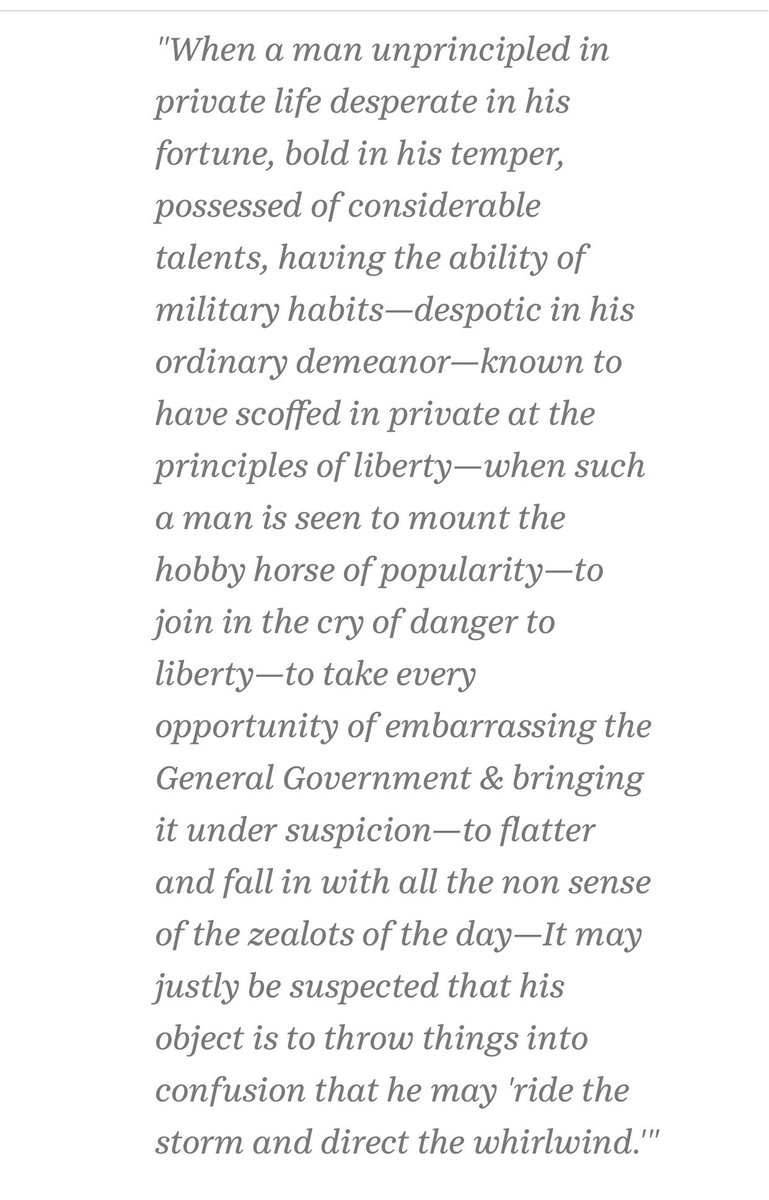 Aug. 18, 1792, in his 'Objections and Answers Respecting the Administration' letter to George Washington: